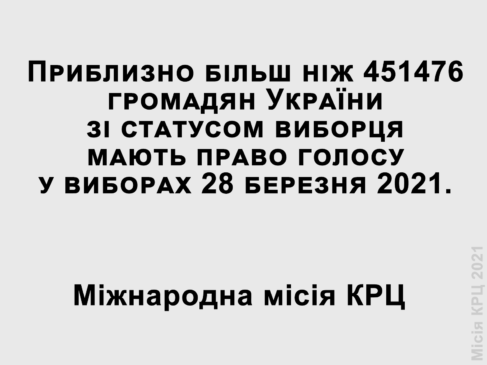Voters in Ukraine