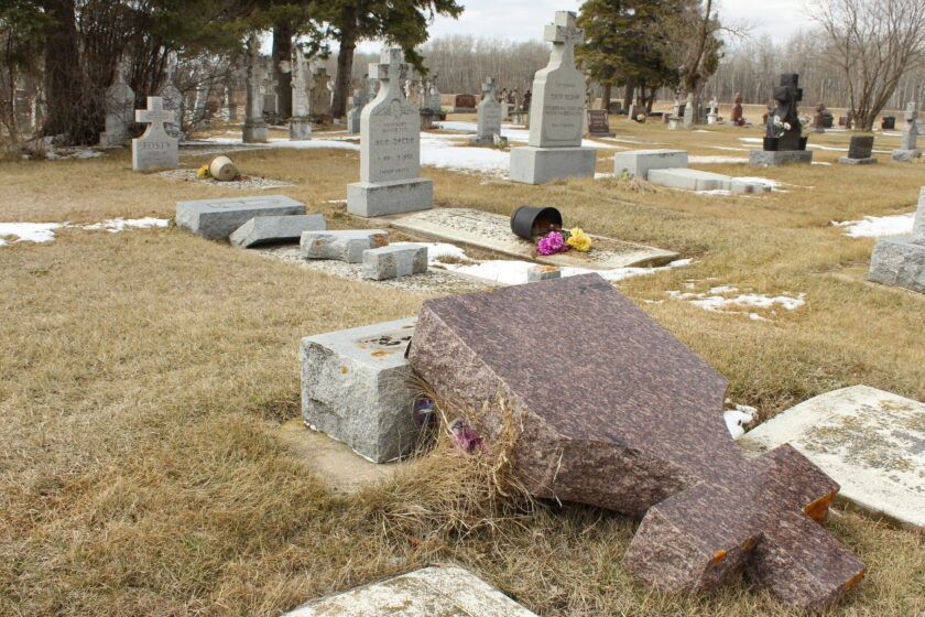 Historic Vita cemetery vandalized